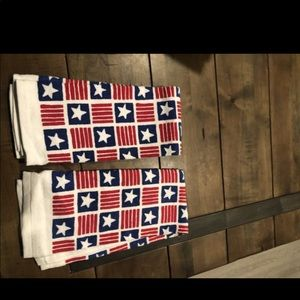 Set of 2 USA/Americana 4th of July dish towels